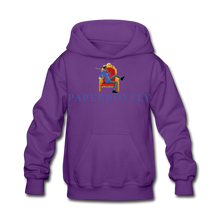 Load image into Gallery viewer, PaperboyFly Kids' Hoodie - purple