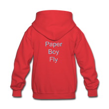 Load image into Gallery viewer, PaperboyFly Kids' Hoodie - red