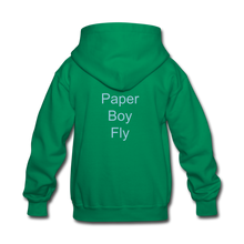 Load image into Gallery viewer, PaperboyFly Kids' Hoodie - kelly green