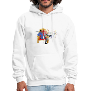 PaperboyFly Dots Men's Hoodie - white