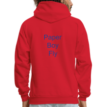 Load image into Gallery viewer, PaperboyFly Dots Men's Hoodie - red