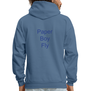 PaperboyFly Dots Men's Hoodie - denim blue