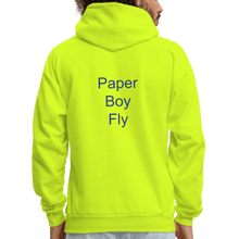 Load image into Gallery viewer, PaperboyFly Dots Men's Hoodie - safety green