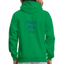 Load image into Gallery viewer, PaperboyFly Dots Men's Hoodie - kelly green