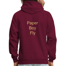 Load image into Gallery viewer, PaperboyFly Dots Men's Hoodie - burgundy