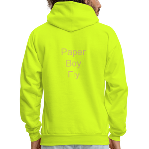 PaperboyFly Dots Men's Hoodie - safety green