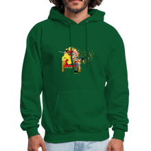 Load image into Gallery viewer, PaperboyFly Dots Men's Hoodie - forest green
