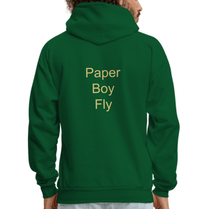 PaperboyFly Dots Men's Hoodie - forest green