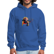 Load image into Gallery viewer, PaperboyFly Dots Men's Hoodie - royal blue