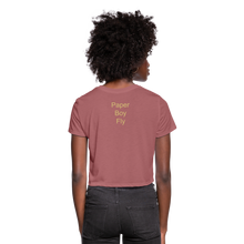 Load image into Gallery viewer, PaperboyFly Dots Women's Cropped T-Shirt - mauve
