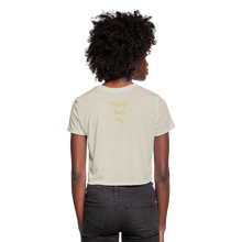 Load image into Gallery viewer, PaperboyFly Dots Women's Cropped T-Shirt - dust