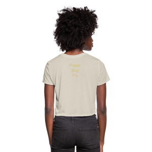 PaperboyFly Dots Women's Cropped T-Shirt - dust
