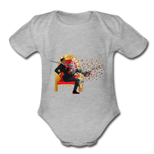 Load image into Gallery viewer, PaperboyFly Short Sleeve Baby Bodysuit - heather gray