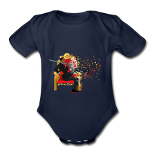 Load image into Gallery viewer, PaperboyFly Short Sleeve Baby Bodysuit - dark navy