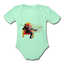 Load image into Gallery viewer, PaperboyFly Short Sleeve Baby Bodysuit - light mint