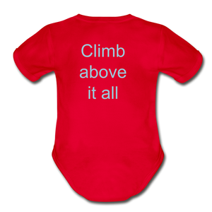 PaperboyFly Climb Short Sleeve Baby Bodysuit - red