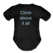 Load image into Gallery viewer, PaperboyFly Climb Short Sleeve Baby Bodysuit - black