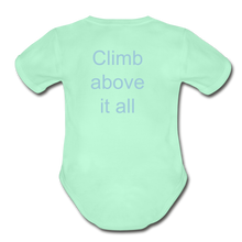 Load image into Gallery viewer, PaperboyFly Climb Short Sleeve Baby Bodysuit - light mint