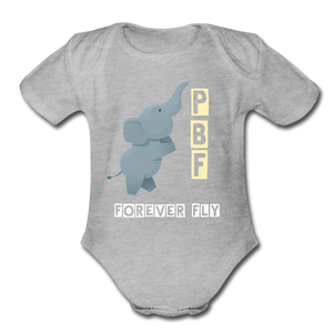 PaperboyFly Short Sleeve Baby Bodysuit - heather gray