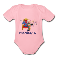 Load image into Gallery viewer, PaperboyFly Short Sleeve Baby Bodysuit - light pink