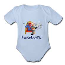 Load image into Gallery viewer, PaperboyFly Short Sleeve Baby Bodysuit - sky