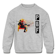 Load image into Gallery viewer, PBF Shatter Kids' Crewneck Sweatshirt - heather gray
