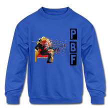 Load image into Gallery viewer, PBF Shatter Kids' Crewneck Sweatshirt - royal blue