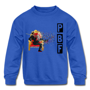 PBF Shatter Kids' Crewneck Sweatshirt - royal blue