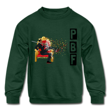 Load image into Gallery viewer, PBF Shatter Kids' Crewneck Sweatshirt - forest green