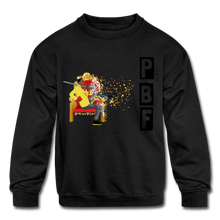 Load image into Gallery viewer, PBF Shatter Kids' Crewneck Sweatshirt - black