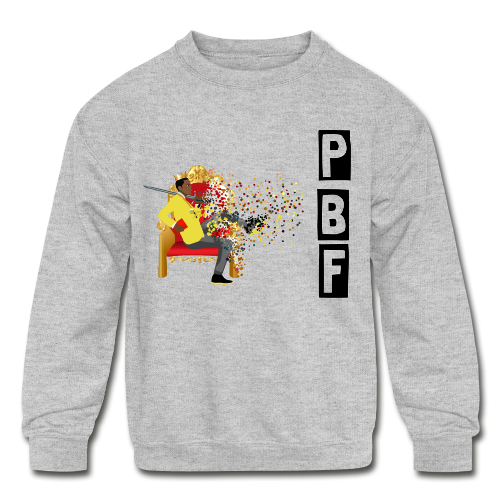 PBF Shatter Kids' Crewneck Sweatshirt - heather gray