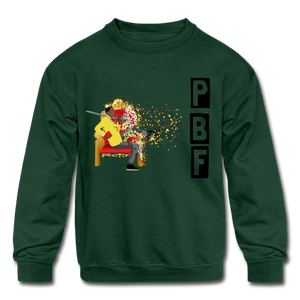 PBF Shatter Kids' Crewneck Sweatshirt - forest green
