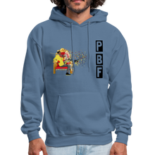 Load image into Gallery viewer, PaperboyFly Shatter Men's Hoodie - denim blue
