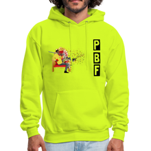Load image into Gallery viewer, PaperboyFly Shatter Men's Hoodie - safety green