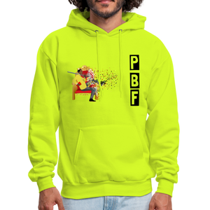 PaperboyFly Shatter Men's Hoodie - safety green