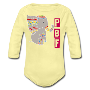 PaperboyFly Long Sleeve Baby Bodysuit - washed yellow