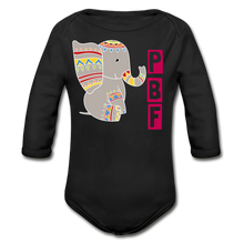 Load image into Gallery viewer, PaperboyFly Long Sleeve Baby Bodysuit - black