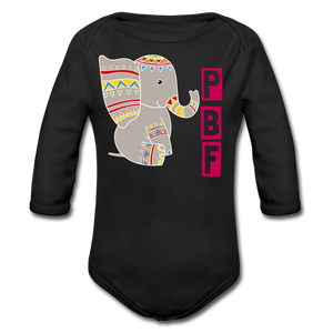 PaperboyFly Long Sleeve Baby Bodysuit - black