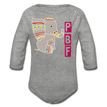 Load image into Gallery viewer, PaperboyFly Long Sleeve Baby Bodysuit - heather gray