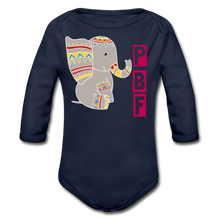 Load image into Gallery viewer, PaperboyFly Long Sleeve Baby Bodysuit - dark navy