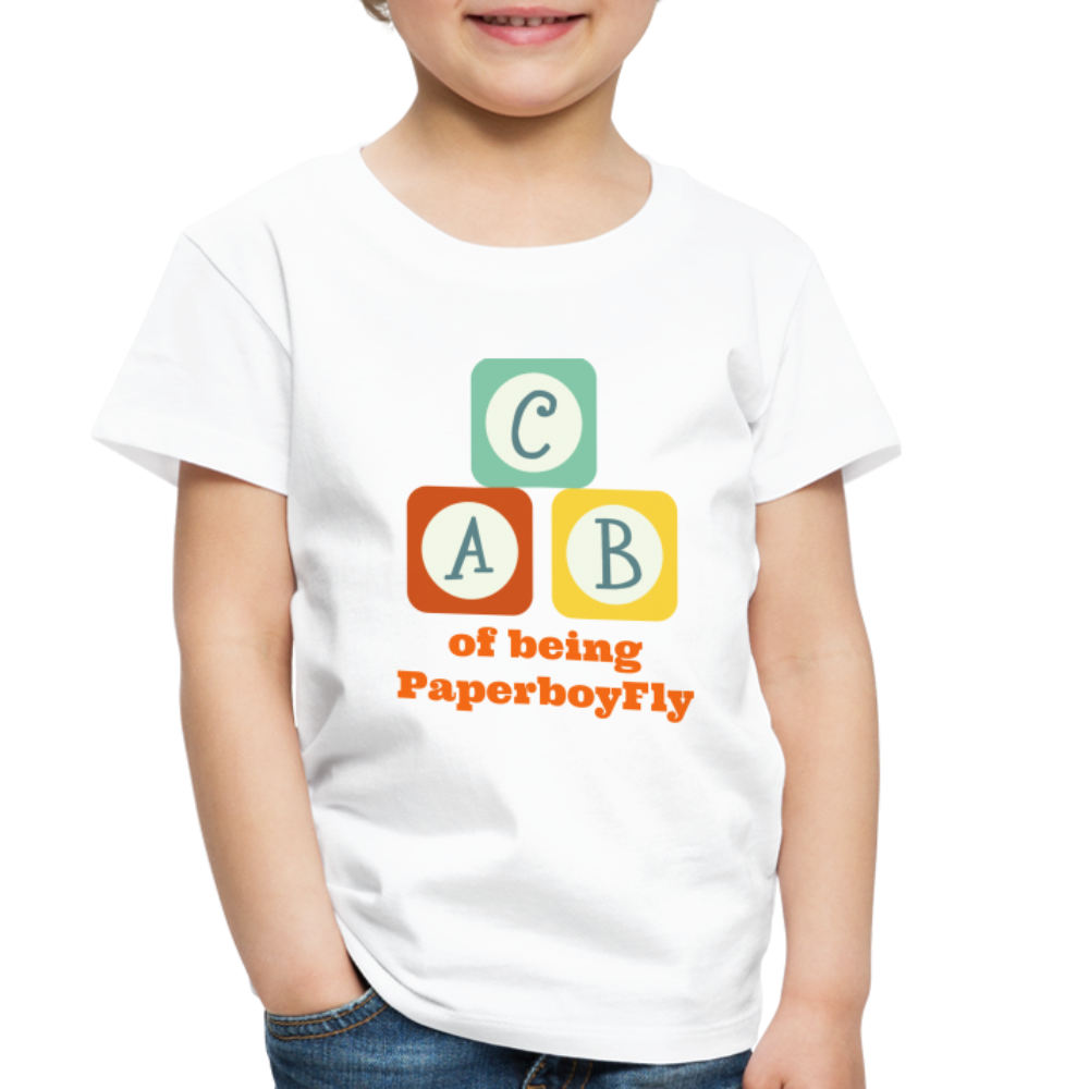 PaperboyFly Toddler Premium T-Shirt - white