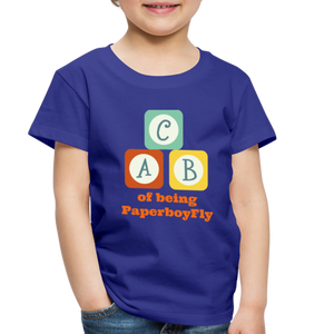 PaperboyFly Toddler Premium T-Shirt - royal blue