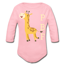 Load image into Gallery viewer, PaperboyFly Long Sleeve Baby Bodysuit - light pink