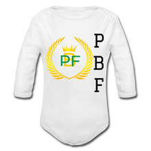 Load image into Gallery viewer, PaperboyFly Long Sleeve Baby Bodysuit - white