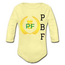 Load image into Gallery viewer, PaperboyFly Long Sleeve Baby Bodysuit - washed yellow