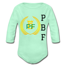Load image into Gallery viewer, PaperboyFly Long Sleeve Baby Bodysuit - light mint