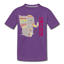 Load image into Gallery viewer, Elephant Toddler Premium T-Shirt - purple