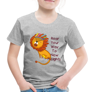 PBF Lion Toddler Premium T-Shirt - heather gray