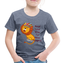 Load image into Gallery viewer, PBF Lion Toddler Premium T-Shirt - heather blue