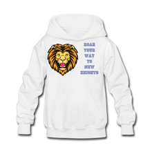 Load image into Gallery viewer, PBF Lion Kids' Hoodie - white